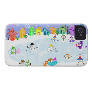 Snowman Snow Day BlackBerry Barely There Case Blackberry Cases