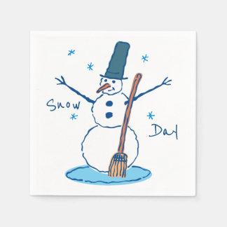 Snowman Snow Day Paper Serviettes