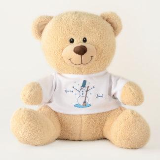 Snowman Snow Day Teddy Bear