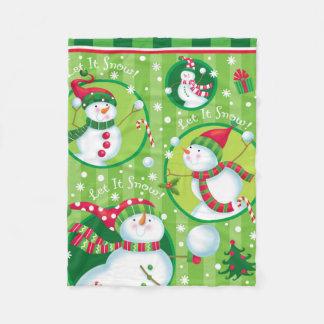 Snowman Snowball Fight Blanket