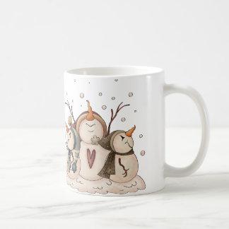 Snowman Snowflake Winter Country Primitive Coffee Mug