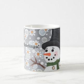 Snowman Snowstorm, Season's Greetings!  ... Morphing Mug