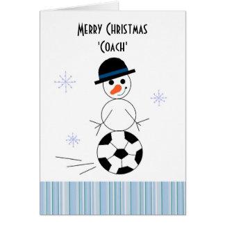 Snowman Soccer Coach Card