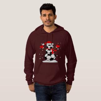 Snowman soccer T-Shirt Funny Christmas Gift Shirt