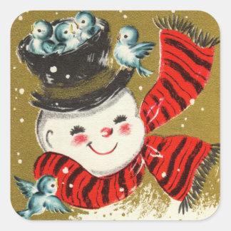 Snowman | Square Stickers