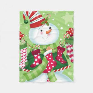 Snowman Stockings Blanket