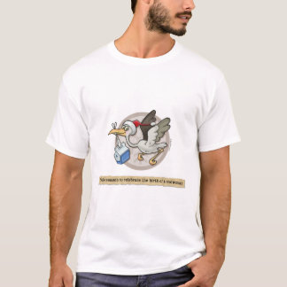 Snowman Stork Delivery T-Shirt