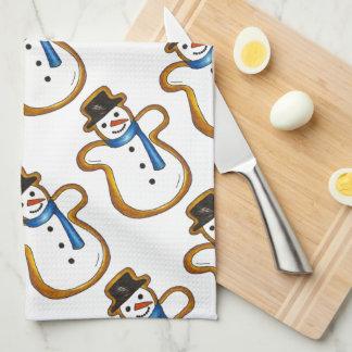 Snowman Sugar Cookie Christmas Hanukkah Holiday Tea Towel