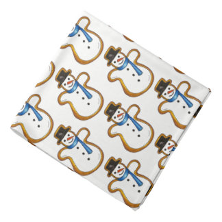 Snowman Sugar Cookie Hanukkah Christmas Holiday Bandana
