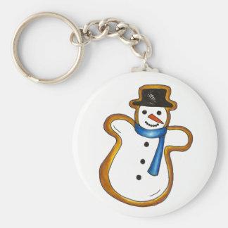 Snowman Sugar Cookie Hanukkah Christmas Holiday Key Ring