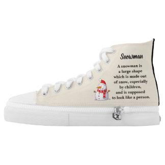 Snowman Themed High Tops