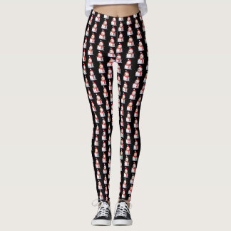 Snowman Themed Leggings