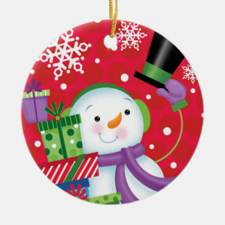 Snowman Tipping His Hat Ornament