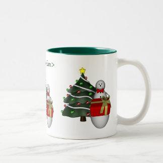 Snowman Tree Personalized Christmas Holiday Mug