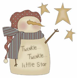 Snowman Twinkle Little Star Ornament Photo Sculpture Decoration