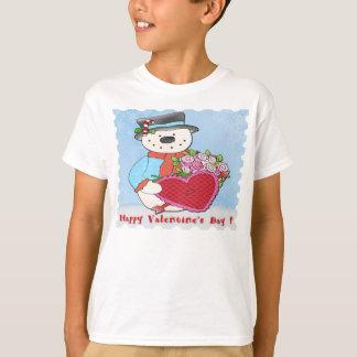 Snowman Valentine's Day Boy's T-Shirt