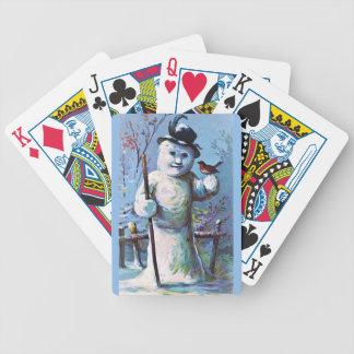 Snowman - vintage-santa-christmas-post-cards-0063 bicycle playing cards