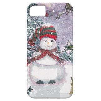 Snowman Watercolor art iPhone 5 Case