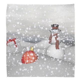 snowman white and gift bandana