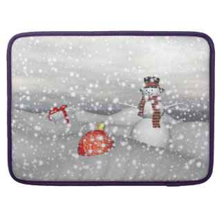 snowman white and gift sleeve for MacBooks
