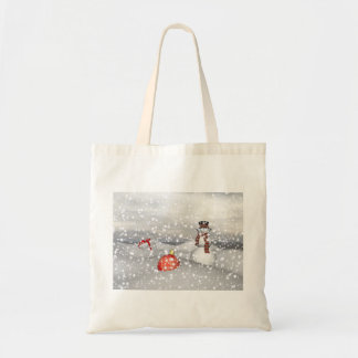 snowman white and gift tote bag
