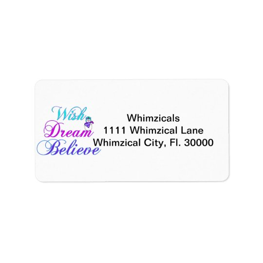 Snowman Wish Dream Believe Gifts Purple & Teal Address Label