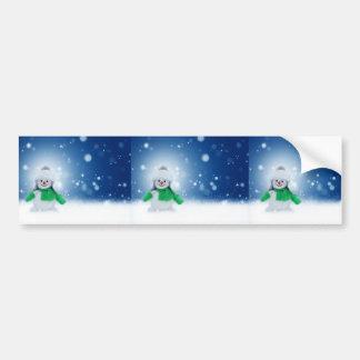 Snowman Wishes Bumper Sticker