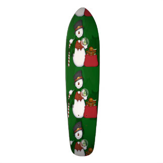 Snowman with A Bag Full Of Presents Skate Board