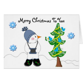 Snowman with Camera Card