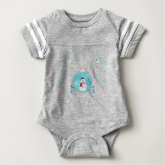 Snowman with Christmas Hanging Decorations Baby Bodysuit