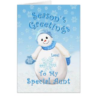 Snowman Wonderland for Aunt Christmas Card