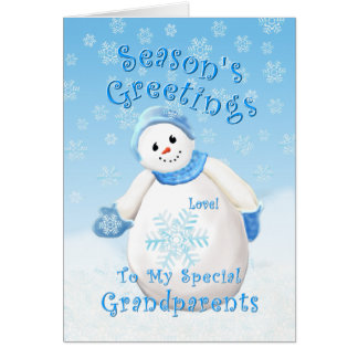 Snowman Wonderland for Grandparents Christmas Card