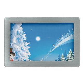 snowmans christmas belt buckle