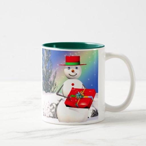 Snowmans Christmas Present Mug