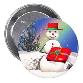 Snowman's Present Pins