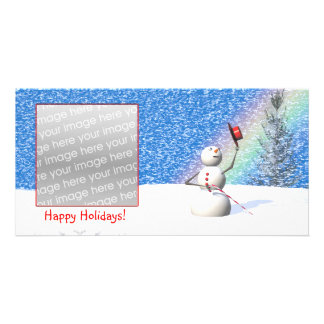 Snowman's Snowy Christmas Picture Card