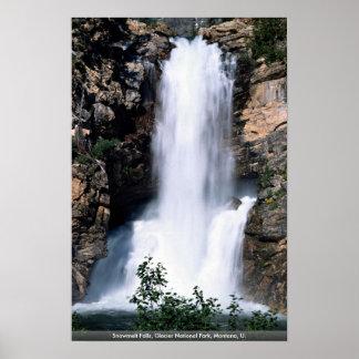 Snowmelt Falls, Glacier National Park, Montana, U. Poster
