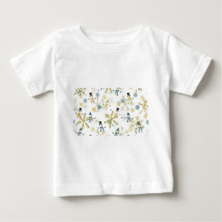 Snowmen and flakes baby T-Shirt