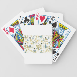 Snowmen and flakes bicycle playing cards