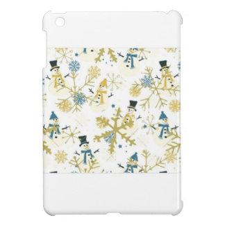 Snowmen and flakes iPad mini cover