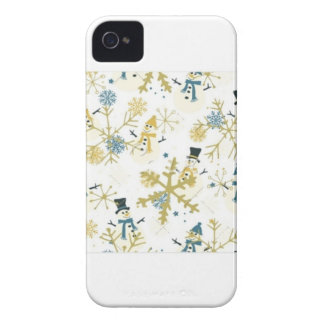 Snowmen and flakes iPhone 4 case