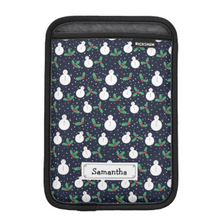 Snowmen and mistletoe pattern iPad mini sleeve