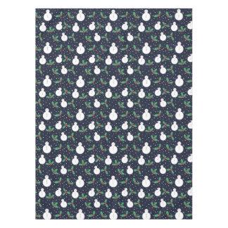 Snowmen and mistletoe pattern tablecloth