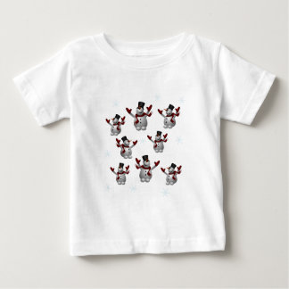 Snowmen and Snowflakes Baby T-Shirt