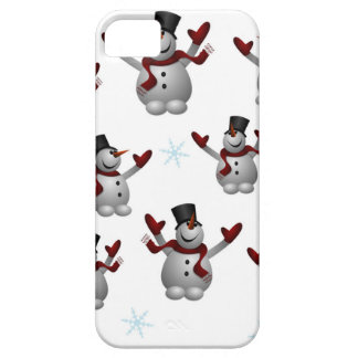 Snowmen and Snowflakes Barely There iPhone 5 Case