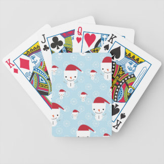 Snowmen and snowflakes bicycle playing cards