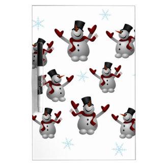 Snowmen and Snowflakes Dry Erase Board