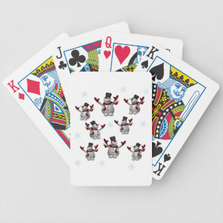 Snowmen and Snowflakes Poker Deck