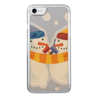 Snowmen Carved iPhone 7 Case