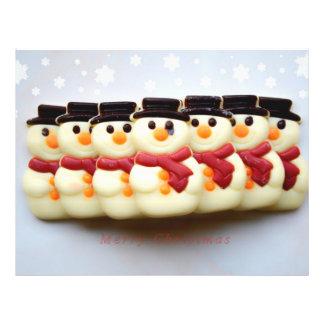 Snowmen Christmas chocolate cookies 21.5 Cm X 28 Cm Flyer